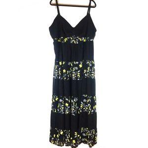 Torrid Black Floral Chiffon Sleeveless Maxi Dress